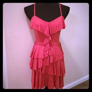 💥NWOT💥 BEBE XS Coral Ruffle Dress